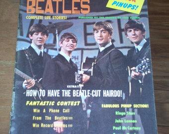 The Beatles Magazine 1964 Complete Life Stories Vintage Rare Photos Original Paul McCartney 60's Classic Rock Music Collectible Teen Fan