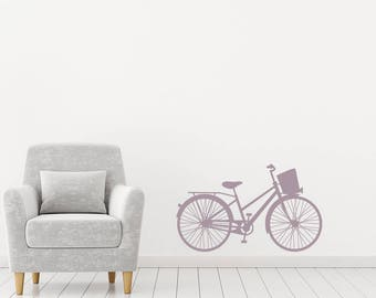 Wall Decal, Bicycle Wall Sticker, Bicycle Wall Decor, Push Bike Wall Art, Bicycle Decal, Bicycle Vinyl Decal