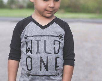 Wild One Shirt - Wild One Raglan - Trendy Kids Shirt - Graphic Tee - Wild One - Arrow Shirt - Trendy Boys Shirt - Baby Shirt - Girls Shirt