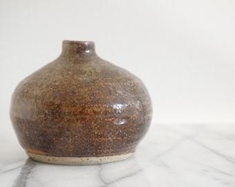Vintage Ceramic Bud Vase - Ceramic Vessel - Handmade Pottery