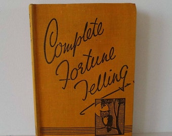 Vintage 1930's Complete Fortune Telling Book Agnes Miall Teacup Palmistry Cards Dice Luck Dreams