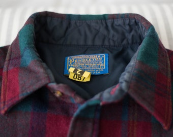 VTG Pendleton Red and Teal Flannel W/ ORGINAL TAGS
