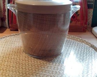 Vintage 50's 60's Mid Century Tiki  Raffiaware Ice Bucket American Barware