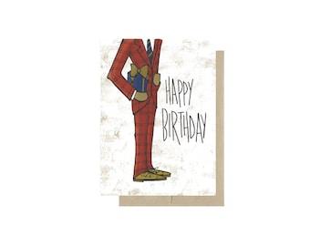 Dapper Happy Birthday - Card Blank Inside