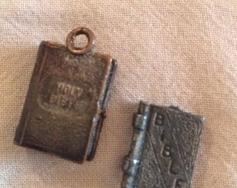 Vintage Metal Gum Ball Machine Bible Charm Toy