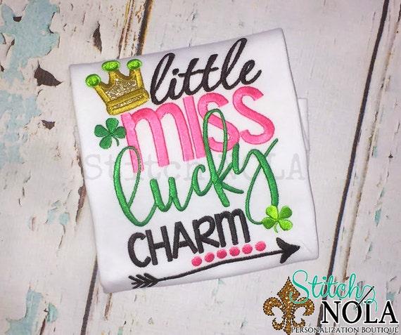 SHIPS FAST!!  Little Miss Lucky Charm Shirt or Bodysuit