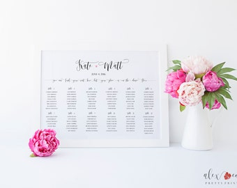 Printable Seating Chart. Wedding Table Seating Chart. Wedding Table Chart. Wedding Seating Chart. Wedding Seating Sign. Seating Chart Print.