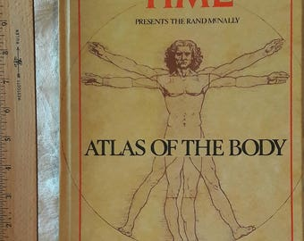 Atlas of the Body Book, Human Anatomy, Vintage Time Books, Color Medical Study Charts, Accurate Anatomical Body Illustrations, Curiosities