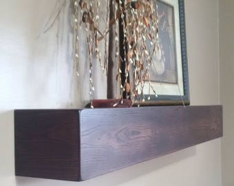 "60"" Long Floating Wall Shelf / Beam / Mantel / Box Shelf"