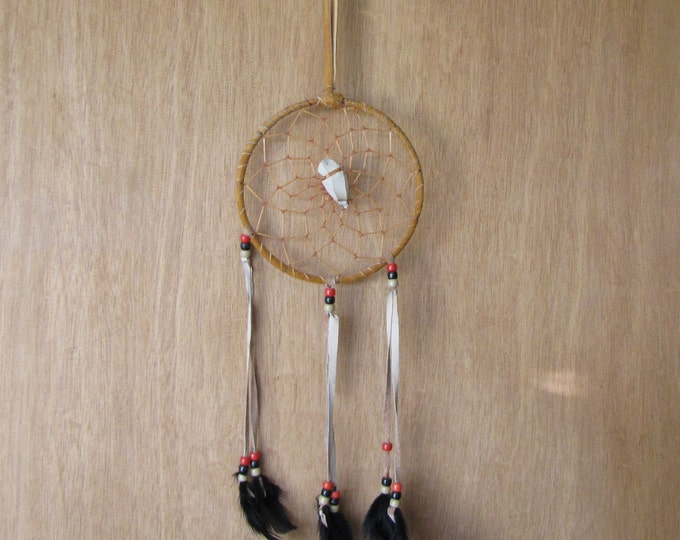 Vintage Dream Catcher Rawhide and Arrow Head Native American Southwestern Decor
