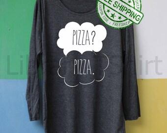 Pizza? Pizza Shirt Pizza? Pizza. Shirt Long Sleeve Slouchy Shirt TShirt T Shirt Tee Shirts