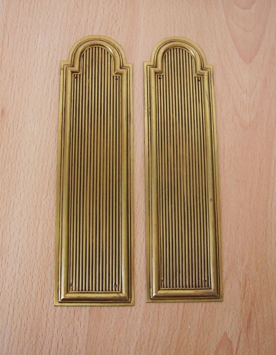 vintage french brass door finger plates hardware
