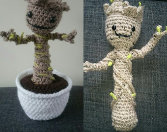 Baby dancing tree, stuffed toy, crocheted