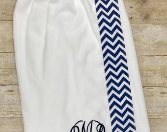 Monogrammed, Personalized Spa, Towel, Shower Wrap - Graduation Gift, Birthday Gift, Bridesmaid Gift