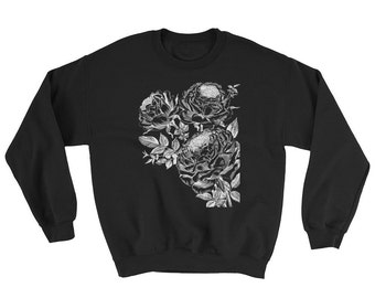 Rose Sweatshirt • Yoga Sweater • Flower Sweater • Yoga Sweatshirt • Roses Shirt • Women's Clothing ««« PF00 «