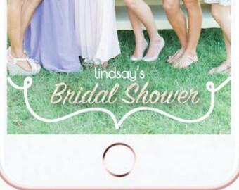 Custom Bridal Shower Snapchat Filter