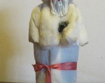 Antique, vintage Santa candy container, spun cotton santaclaus, great condition!