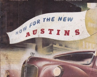 Retirement Gift for Man Cave October 1947 Autocar Magazine Anniversary Gift for Him Husband Gift Birthday Idea Car Magazines FREE SHIP