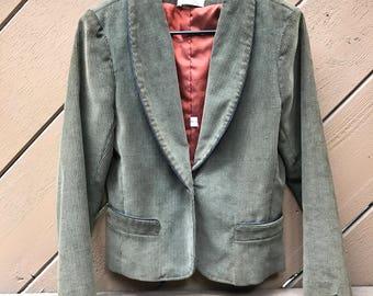 70s Olive Green Corduroy Blazer