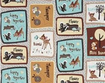 Bambi and Friends Patchwork Fabric