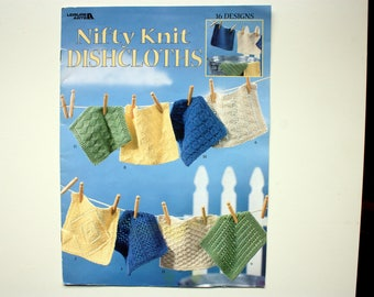 Nifty Knit Dishcloths- 16 Designs - Leisure Arts 3122 - Dish Cloth Patterns