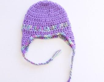 Crochet Newborn Earflap Hat