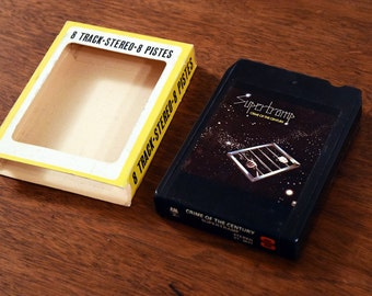 Supertramp 8track Music Cartridge - Very Good Condition with Original 8 Track Sleeve - Crime of the Century - 1970s - Made in Canada