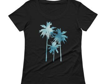 Palm Trees Tshirt - Palm Trees T Shirt - Womens T Shirt - Palm Trees T Shirt - Palm Tree Printed T shirt - Graphic Tee - Ladies Tee