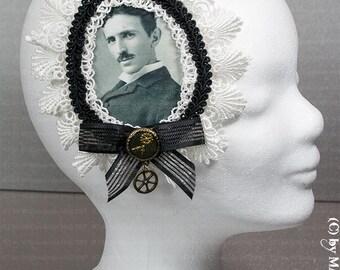 Nicola Tesla Kokade for corset or hair accessories STEAMPUNK