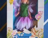 MiB Vintage Hornby Flower Fairies 1983 PURPLE CLOVER Fairy 1980s lilac dress wings flowers hat wand faerie dolls fantasy doll Extremely RARE
