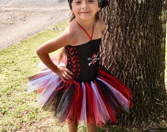 Pirate Girl tutu dress / Pirate Girl Costume