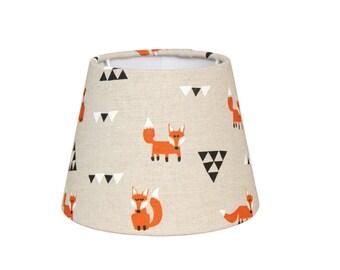 """Lampshade 16 x 11 cm """"Volpi - Triangles"""" cotton E14"""