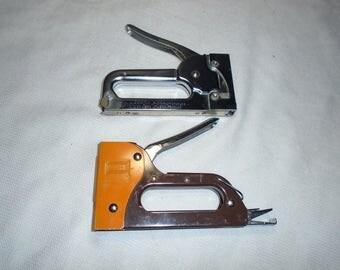 2 Vintage staple guns.  Staple gun.  Crafting tools.  Arrow staple gun.  Apex staple gun