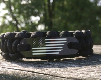 American Flag Bracelet, America First - Paracord Bracelet, Flag Bracelet, USA Flag Bracelet, Jewelry gifts for men
