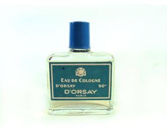 French Eau de Cologne d'Orsay, Etiquette Bleue, Eau de Toilette Bottle, Fragrance Scent Perfume