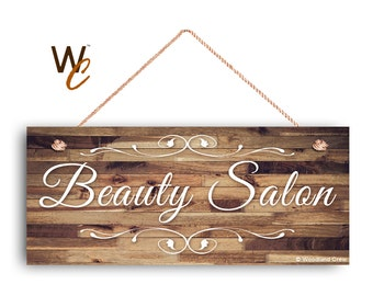 Beauty Salon Sign Company Business 6x14