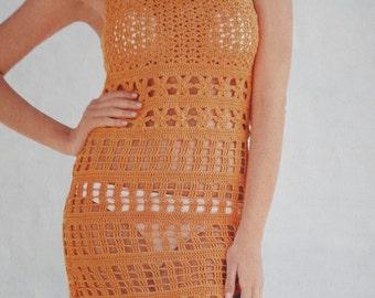 Handmade crochet beach dress summer skirt, women crochet clothes MADE TO ORDER