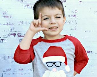 Toddler Santa Shirt - Toddler Christmas Shirt - Boy Christmas Shirt - Girl Santa Shirt - Santa Clause Shirt - Christmas Raglan Shirt - Santa