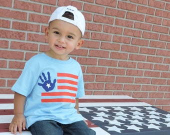 Fourth of July Shirt for Toddler - Patriotic Shirt for Toddler - 4th of July Shirt for Boy - American Flag Shirt - Red White and Blue Shirt