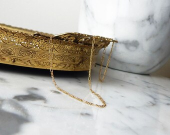 14K Gold-Filled Dainty Figaro Chain Choker