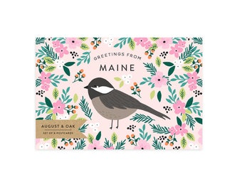 Maine State Bird Postcard - Set of 8
