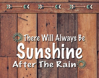 Sunshine After The Rain Decal | Yeti Decal | Yeti Sticker | Tumbler Decal | Car Decal | Vinyl Decal