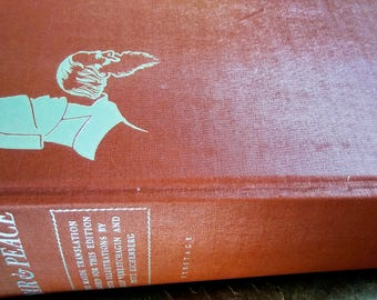 1938 War and Peace by Leo Tolstoy-Two Volumes Bound in One, The Heritage Press