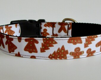 READY TO SHIP! Christmas Dog Collar Gingerbread