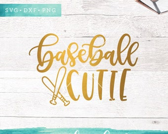Baseball SVG Cut Files /  Baseball Cutie Svg Cutting Files /  Baseball Svg Files for Silhouette Cricut