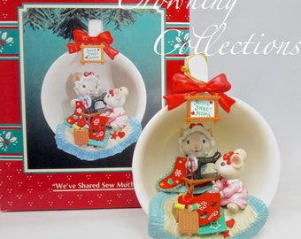 Enesco We've Shared Sew Much Cozy Cup Ornament Mice Teacup Sewing Room Tea Treasury of Christmas Vintage M. Gilmore Designs 9th in Series