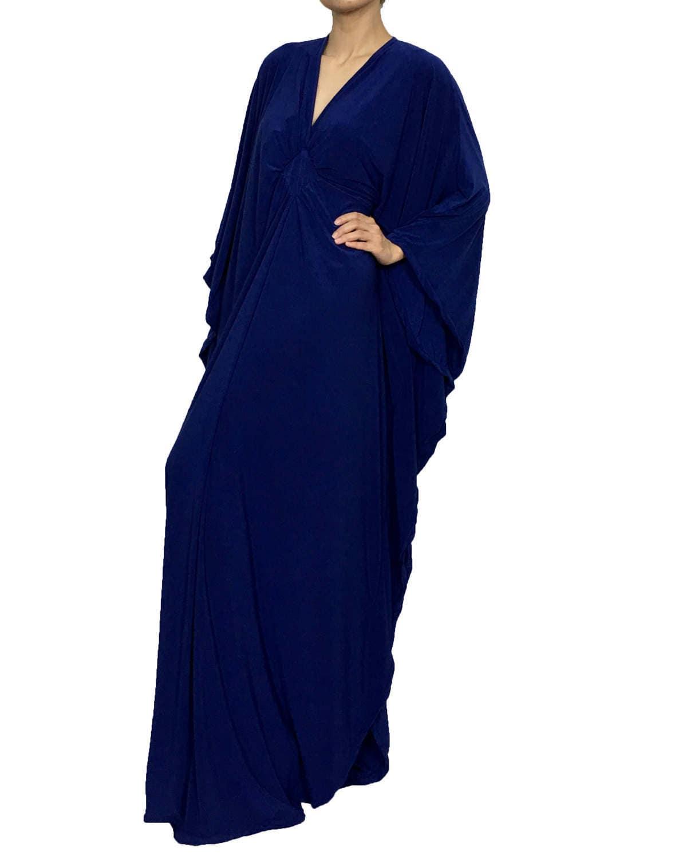 Blue Bridesmaid Dresses Kaftan Wedding Party Dress Plus Size