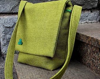 Neon Green Bag, Teenager Handbag, Ladies Handbag Crossbody Bag  Upcycled Handbag Messenger Bag  Recycled Bag, Girlfriend Gift, Gift for Mom
