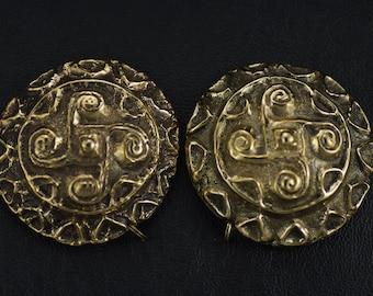 Germanic/Celtic Flyfot Brooch Set