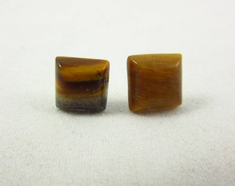 Tigers Eye Earrings/Stud Earrings/Sterling Earrings/Handmade Earrings/Tigers Eye Jewelry/Small Earrings/Simple Jewelry/Modern Jewelry